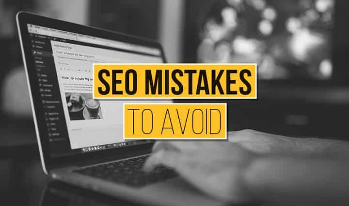 SEO Mistakes to avoid on the yellow board