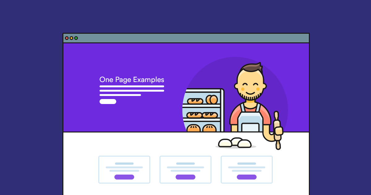 Preparation of a one-page website